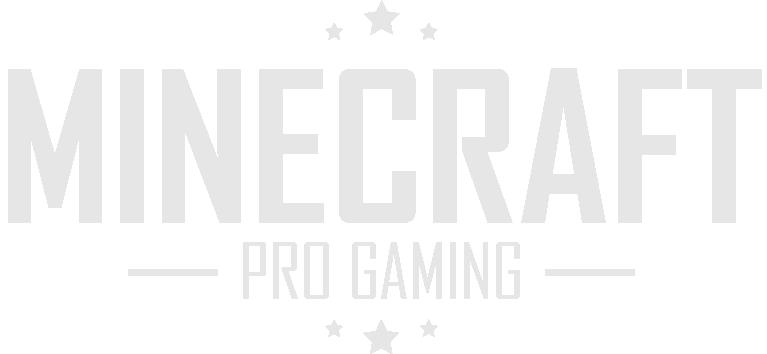 Logo Minecraft Pro Gaming Blanc